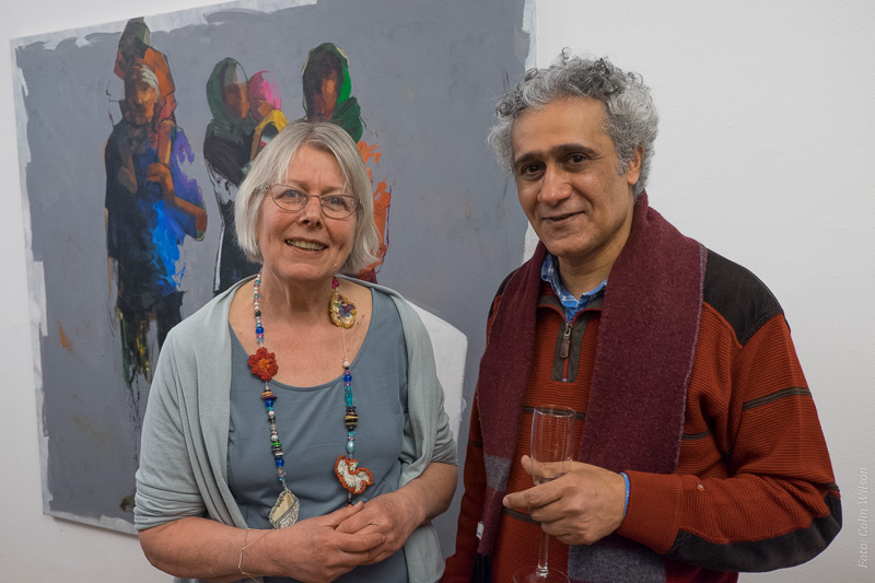 foto van Ahmed en mij gemaakt bij de opening van de expositie door Colin Wilson