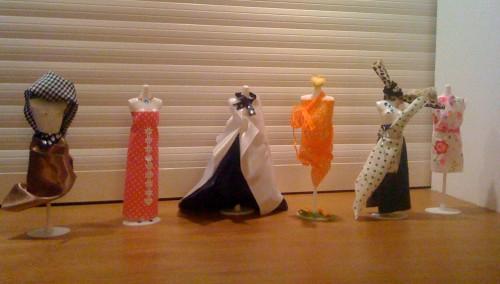 v..l.n.r.: creaties van Els, Peter, Erik, Joke, Joanna, Liesbeth