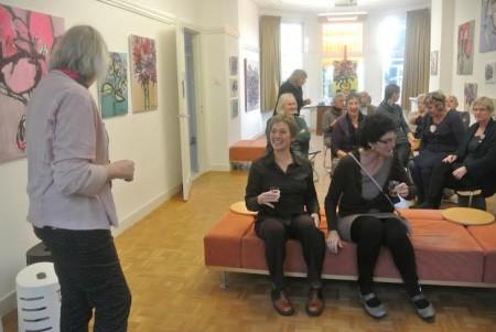 publiek bij gesprek met Petra en Ruud Jan