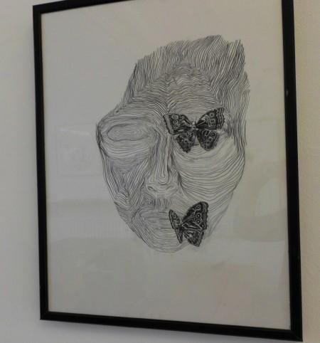 vlinders, tekening ntk