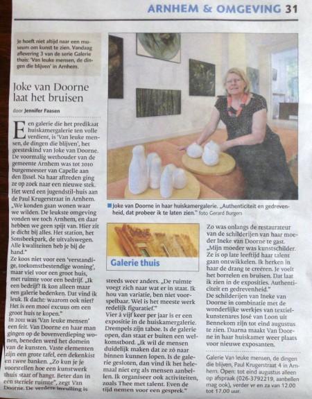 artikel uit de Gelderlander van 25 juli