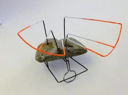 object met steen