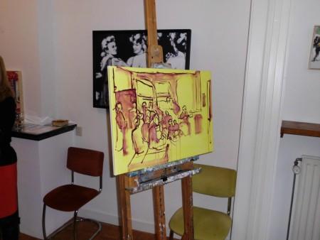 schets voor het openingsschilderij