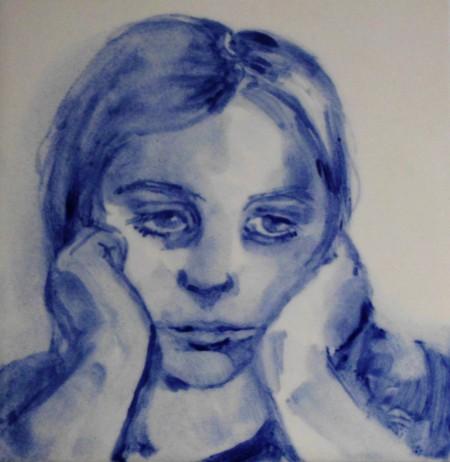 tegeltje meisjesportret, Katja de Soeten