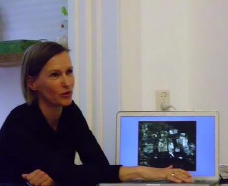Ellen Boerma licht de restaurarie toe